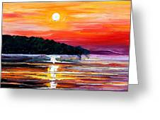 Sunset Melody Greeting Card