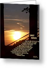 Sunset Moments IIi Greeting Card