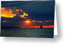 Sunset Montauk Ny Greeting Card