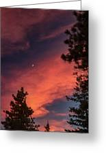 Sunset - Moonrise Greeting Card