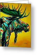 Sunset Moose Greeting Card