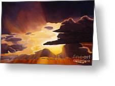Sunset Near Killeen Greeting Card