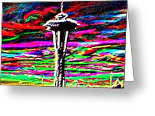 Sunset Needle 2 Greeting Card