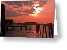 Sunset Newport Rhode Island Greeting Card