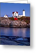 Sunset Nubble Greeting Card