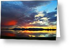 Sunset Of Colors Greeting Card
