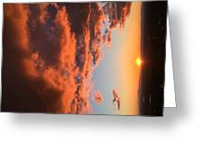 Sunset Of The West Greeting Card