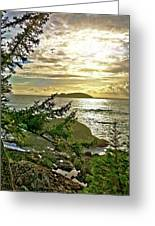 Sunset Off Vancouver Island Greeting Card