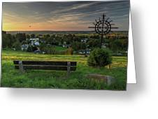 Sunset On A Beautiful Place Greeting Card
