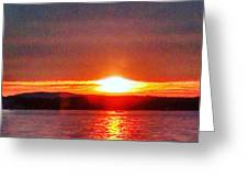 Sunset On A Yacht  Greeting Card