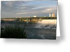 Sunset On American Falls 2 Greeting Card