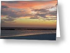 Sunset On An Idyllic Island In Maldives Greeting Card