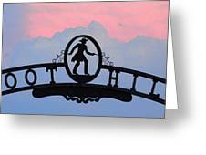 Sunset On Boot Hill Greeting Card