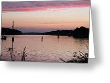 Sunset On C And D Greeting Card