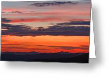 Sunset On Caney Fork Overlook Greeting Card