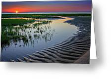 Sunset On Cape Cod Greeting Card