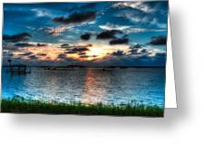 Sunset On Cedar Key Greeting Card
