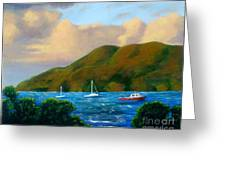 Sunset On Cruz Bay Greeting Card