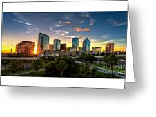 Sunset On Downtown Tampa Greeting Card