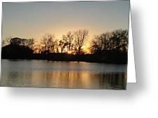 Sunset On Elk Greeting Card
