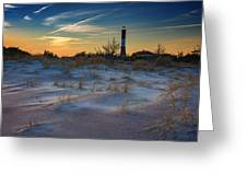 Sunset On Fire Island Greeting Card