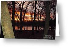 Sunset On Fox River Greeting Card