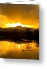Sunset On Golden Ponds Greeting Card