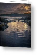 Sunset On Iceland Greeting Card