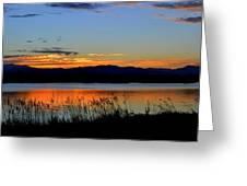 Sunset On Lake Dillon Greeting Card