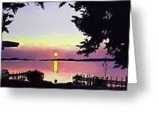 Sunset On Lake Dora Greeting Card