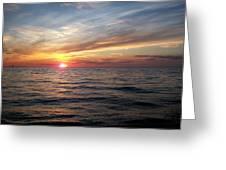 Sunset On Lake Erie Greeting Card
