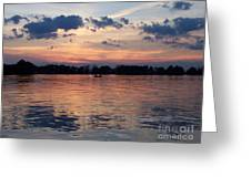 Sunset On Lake Mattoon Greeting Card