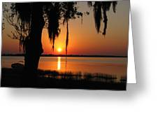 Sunset On Lake Minneola Greeting Card