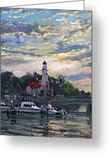 Sunset On Lake Shore Mississauga Greeting Card