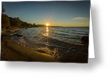 Sunset On Lake Superior Greeting Card