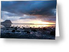 Sunset On Le Morne Greeting Card