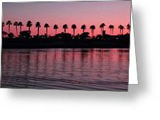 Sunset On Long Beach Bay Greeting Card