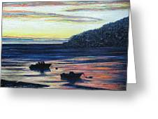 Sunset On Maine Coast Greeting Card