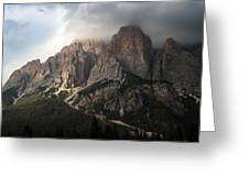 Sunset On Mighty Mountain Greeting Card