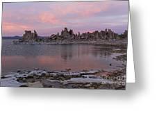 Sunset On Mono Lake Greeting Card
