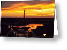 Sunset On Morro Bay Greeting Card