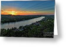 Sunset On Mount Bonnell Greeting Card