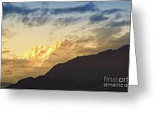 Sunset On Mount Kanchenjugha At Dusk Sikkim Greeting Card