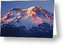 1m4876-sunset On Mt. Rainier  Greeting Card