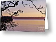 Sunset On Orcas Greeting Card