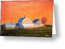 Sunset On Otisfield Barn Greeting Card