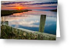 Sunset On Pamlico Sound Greeting Card