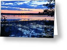 Sunset On Porcupine Lake Greeting Card