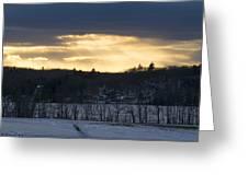 Sunset On Sabattus Lake Greeting Card