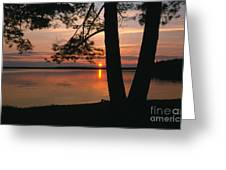 Sunset On Sister Bay Greeting Card